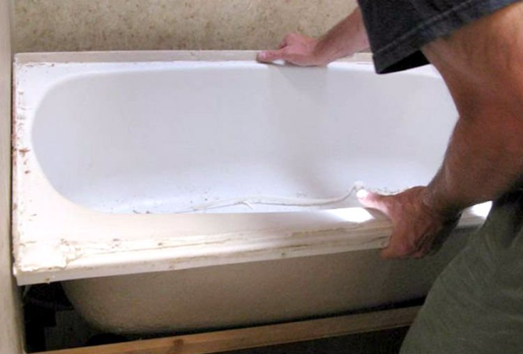 RV bathtub replacement