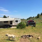 How We Made A Private Dog Run While Boondocking