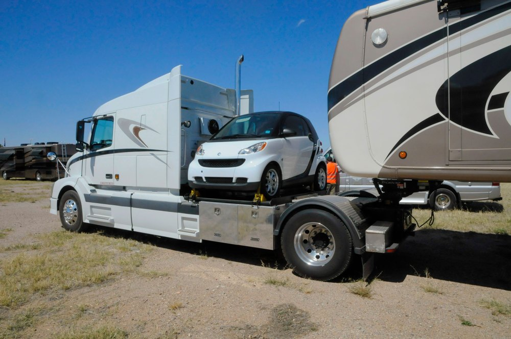 medium resolution of whether you tuck a small car behind your tow vehicle or tow a classic sportster on a trailer there are many ways to take a car along on your motorhome
