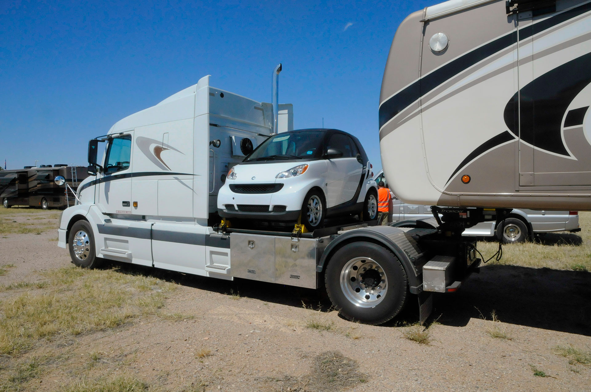 hight resolution of whether you tuck a small car behind your tow vehicle or tow a classic sportster on a trailer there are many ways to take a car along on your motorhome