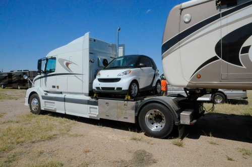 small resolution of whether you tuck a small car behind your tow vehicle or tow a classic sportster on a trailer there are many ways to take a car along on your motorhome