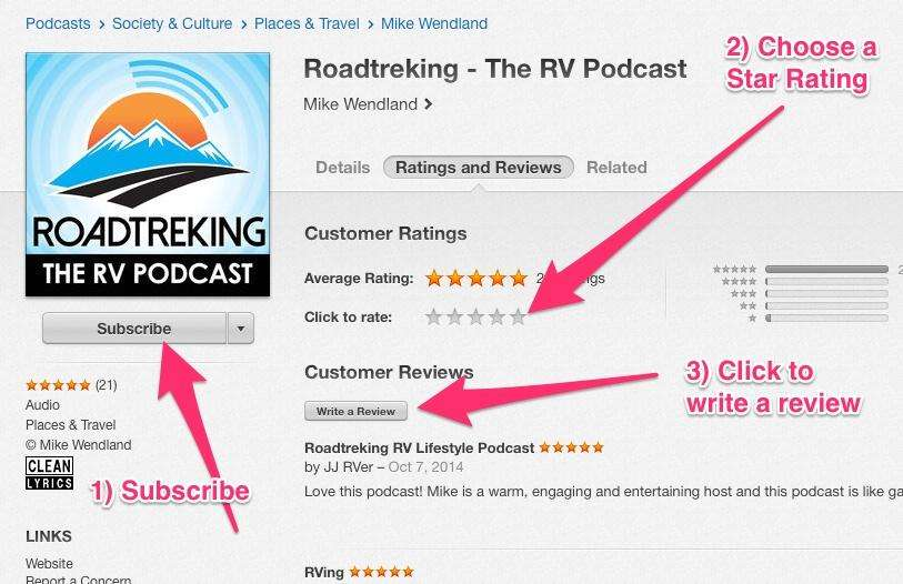 How to subscribe, rate and review a podcast