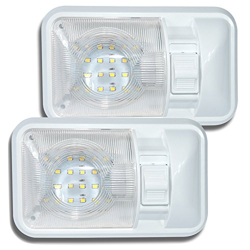 Dream Lighting Interior LED Lights Caravan Spotlight 12volts with On//Off Rocker Switch for Motorhome Campervan Boat Recreational Vehicle Warm White Pack of 2
