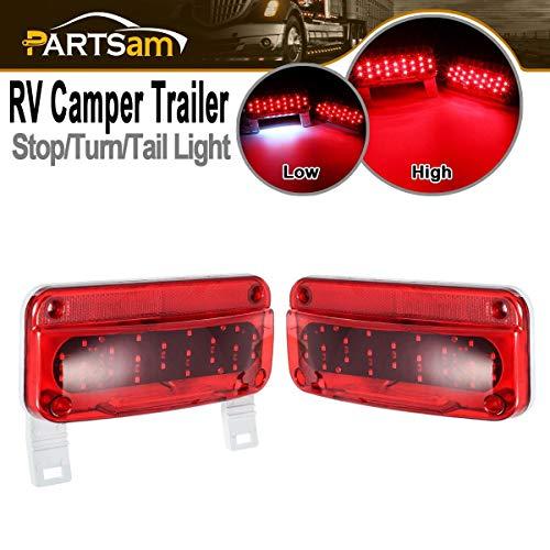 Command Electronics RV Camper Trailer Stop Turn Brake Tail Lights//License Light//White Base//Pair