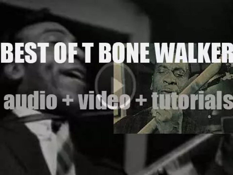 We remember T Bone Walker. 'T-Bone Walked'