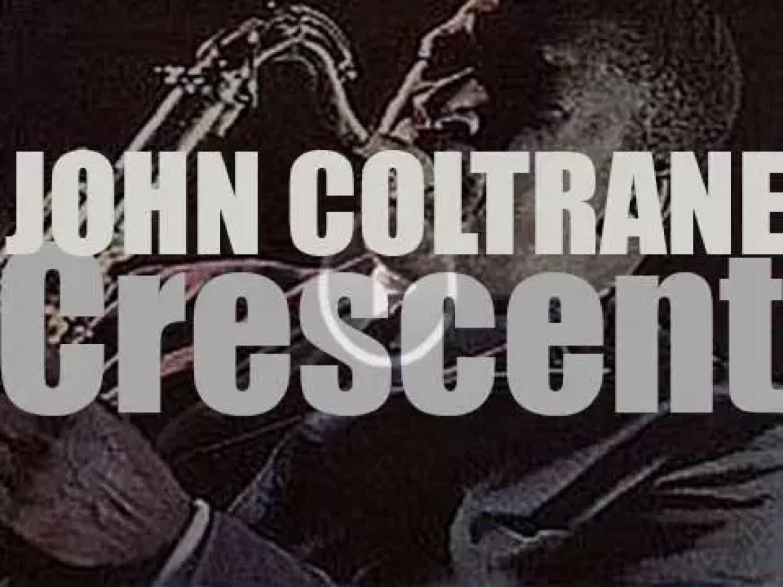 John Coltrane records in  studio 'Crescent' with Jimmy Garrison, Elvin Jones & Mccoy Tyner (1964)