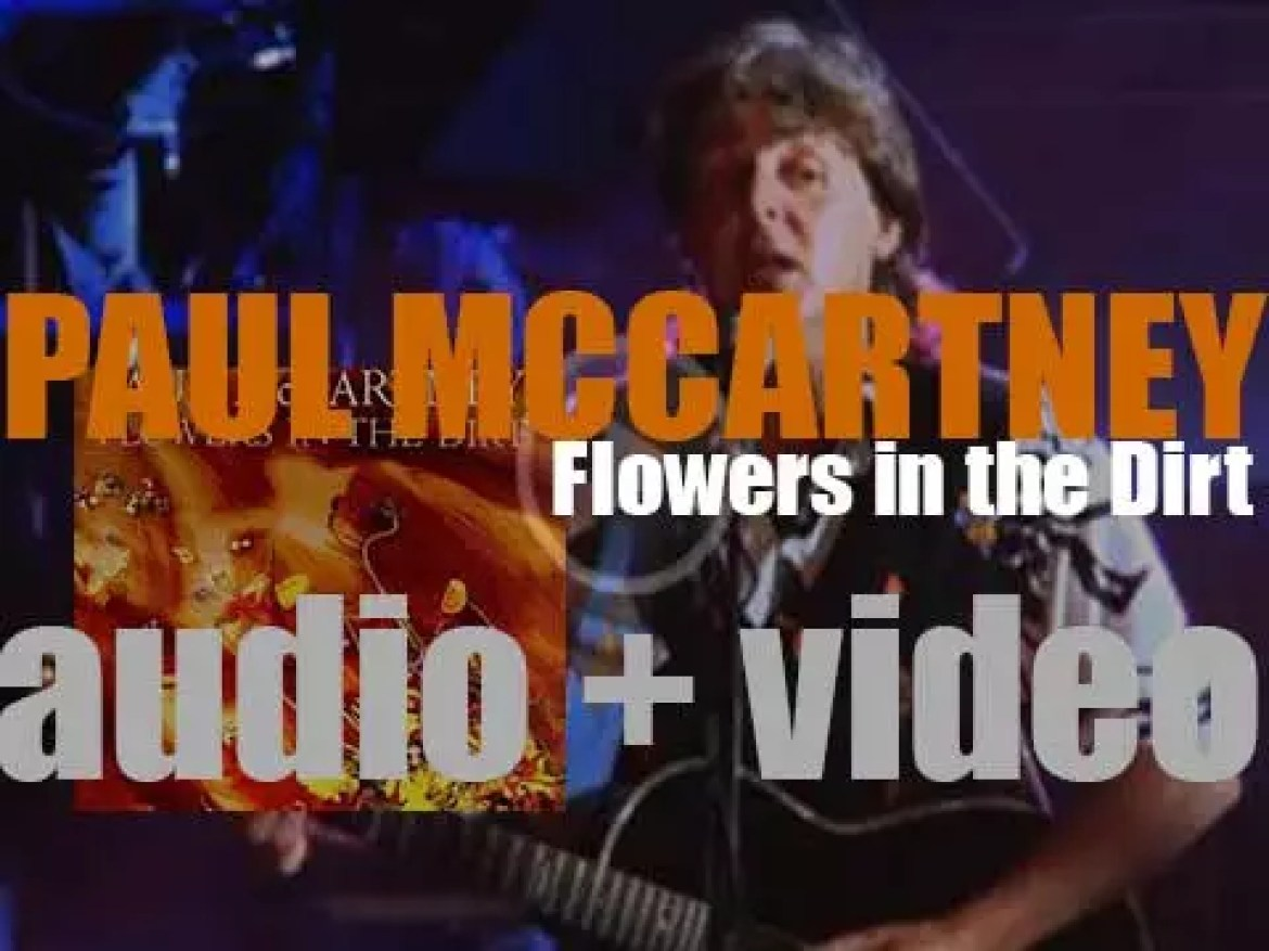 Parlophone publish Paul McCartney's 'Flowers in the Dirt,' his eighth album featuring 'My Brave Face' (1989)