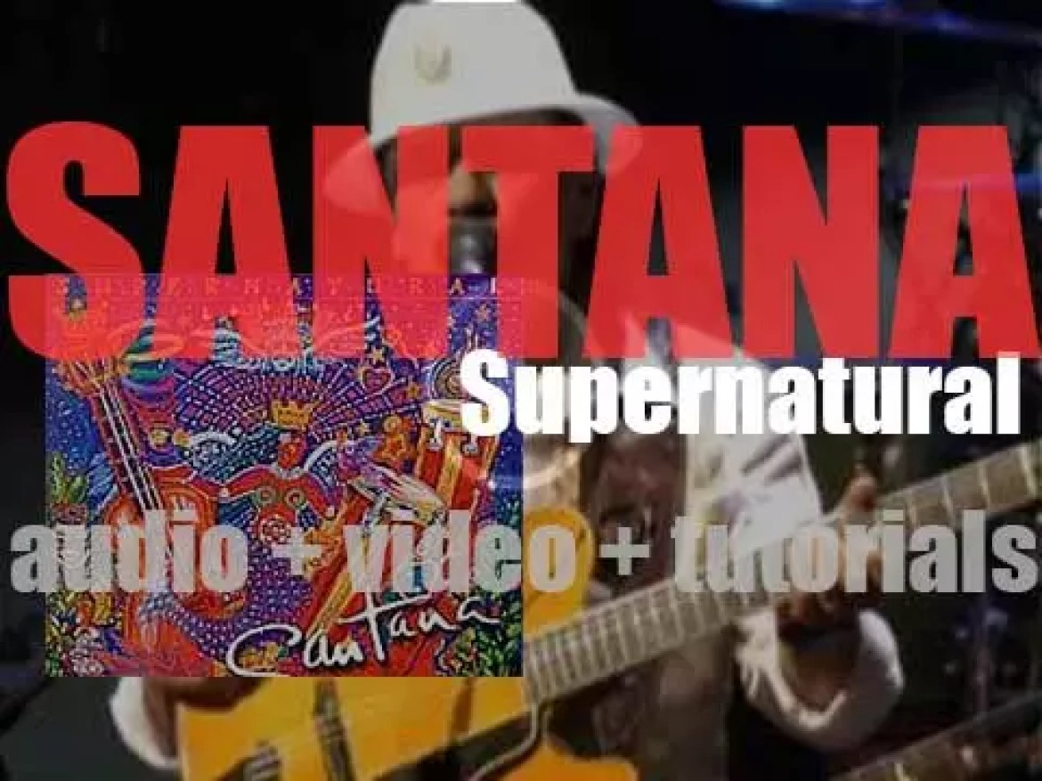 Santana release 'Supernatural,' their seventeenth album featuring 'Maria, Maria' (1999)