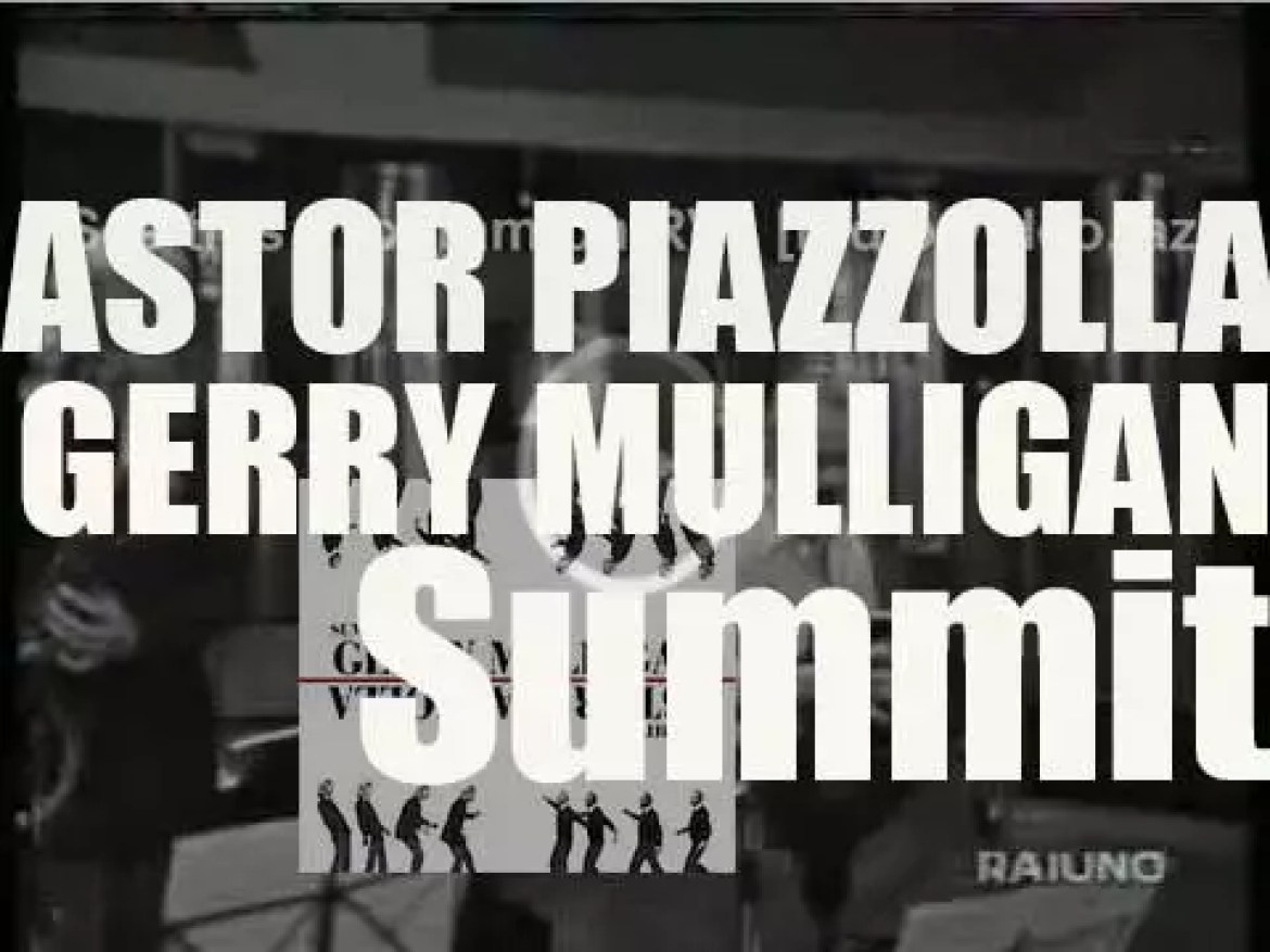 Astor Piazzolla and Gerry Mulligan record 'Summit'  in Italy (1974)