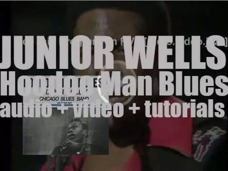 Delmark publish Junior Wells debut album : 'Hoodoo Man Blues' recorded with Buddy Guy (1965)