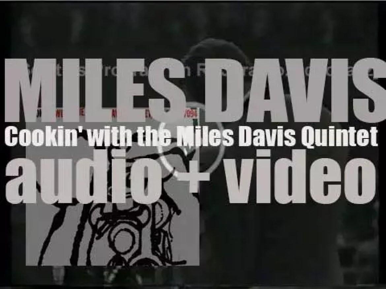 Prestige Records tape 'Cookin' with the Miles Davis Quintet' featuring John Coltrane (1956)
