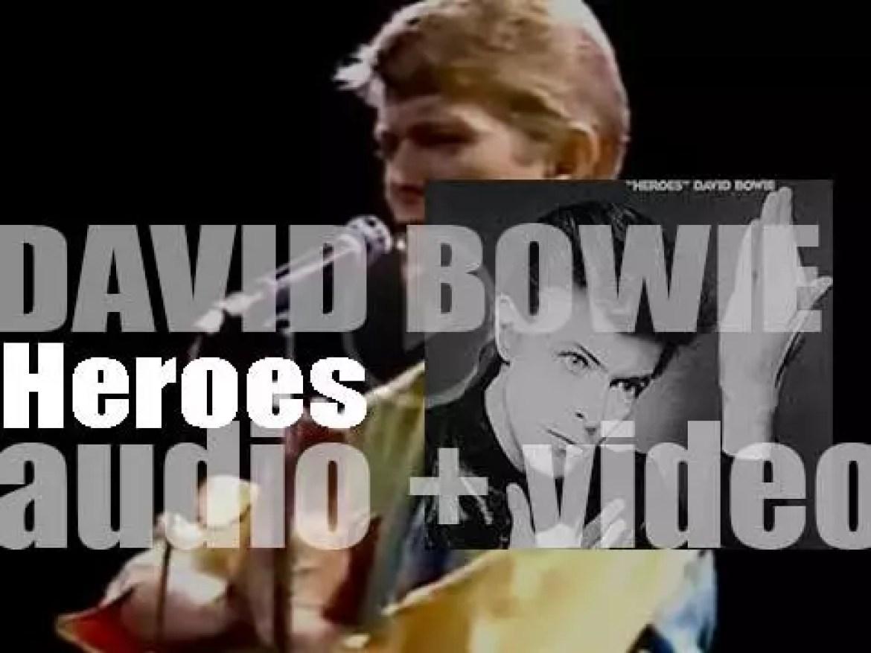 David Bowie releases  his twelfth album : 'Heroes' featuring Robert Fripp, Brian Eno et al (1977)