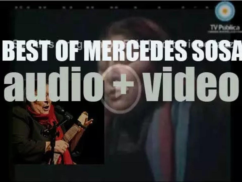 We remember Mercedes Sosa. 'Gracias A La Negra'