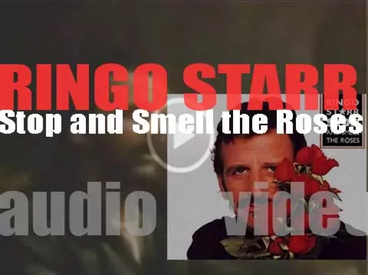 Ringo Starr releases his eighth album : 'Stop and Smell the Roses'  featuring 'Wrack My Brain' (1981)