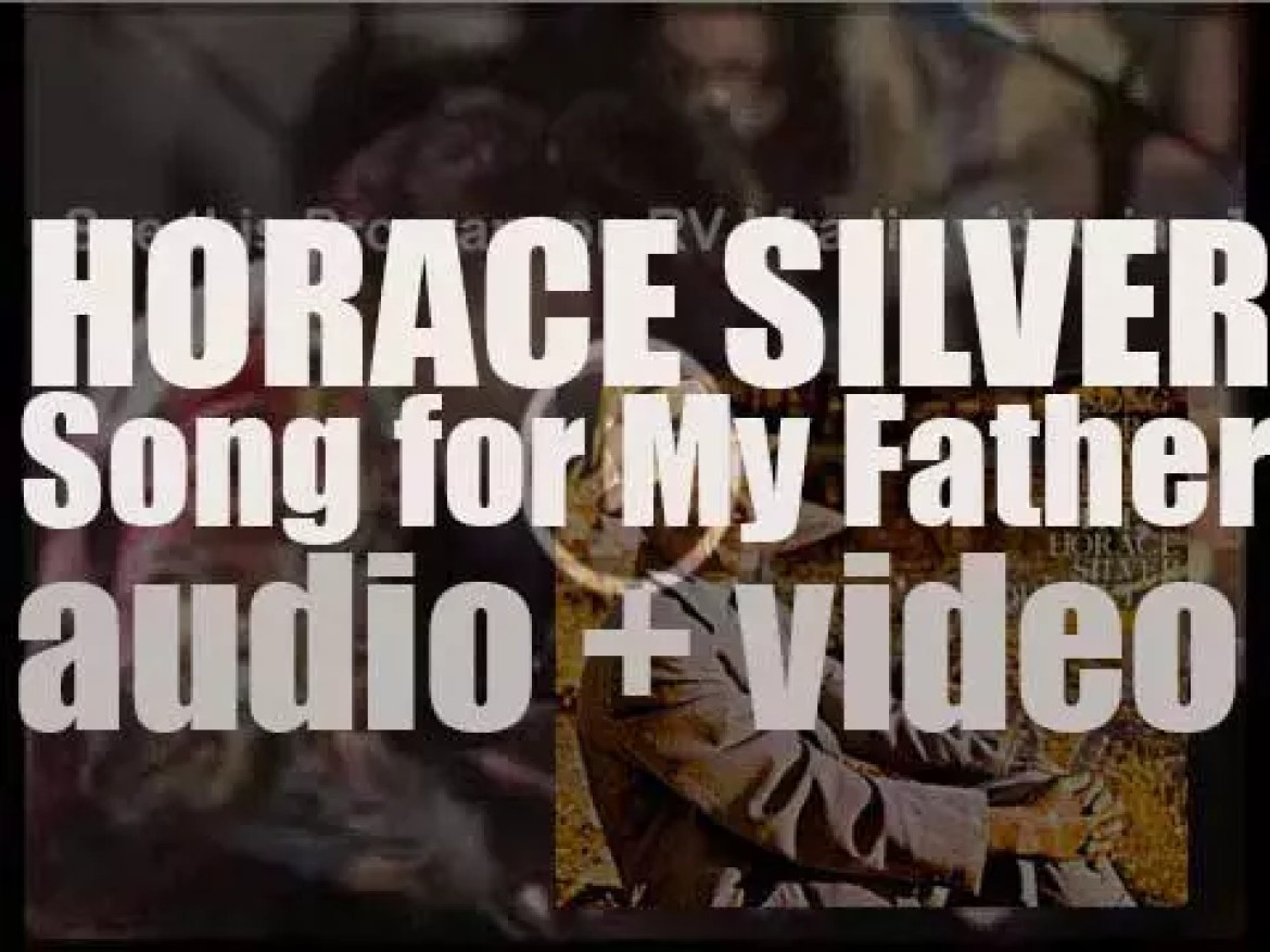 Horace Silver finishes the recording of 'Song for My Father,' an album for Blue Note (1964)