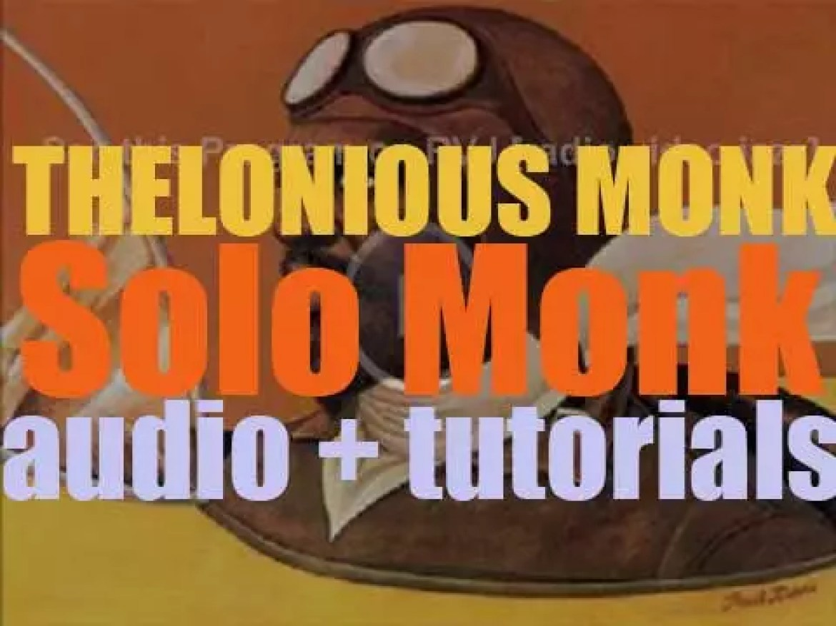 Thelonious Monk records 'Solo Monk' with producer Teo Macero for Columbia (1964)