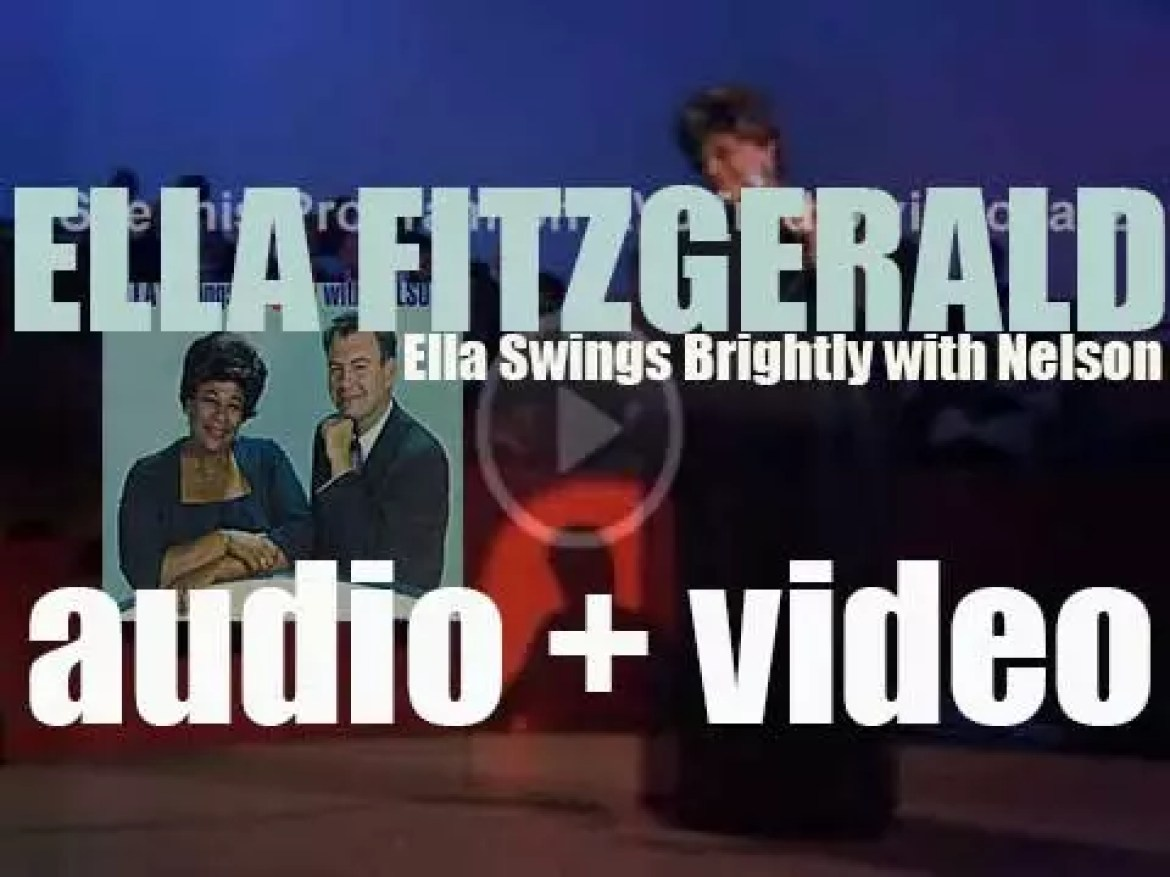 Ella Fitzgerald finishes the recording of 'Ella Swings Brightly with Nelson' with the Nelson Riddle Orchestra (1961)