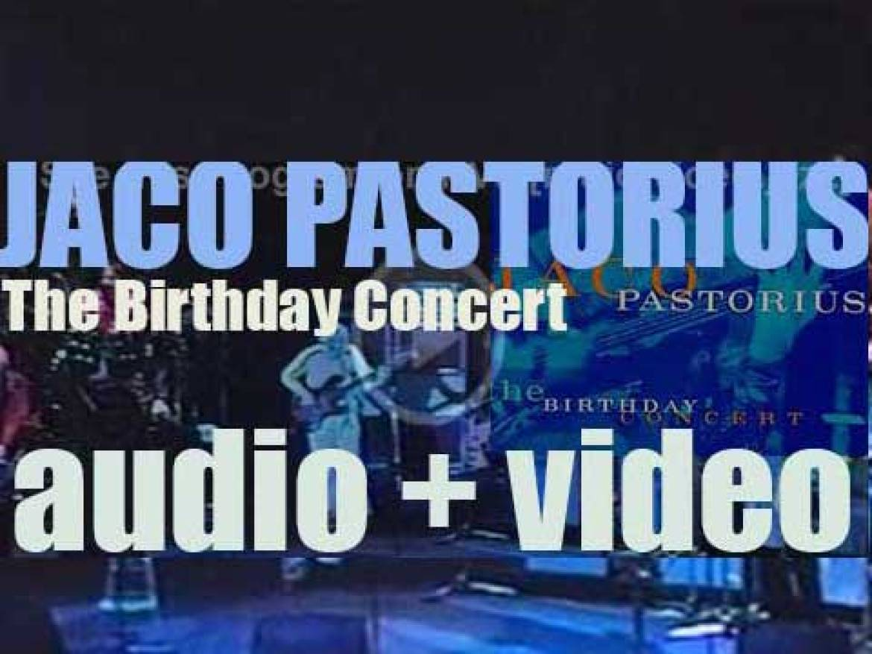 Jaco Pastorius records 'The Birthday Concert' in Florida for Warner Bros. (1995)