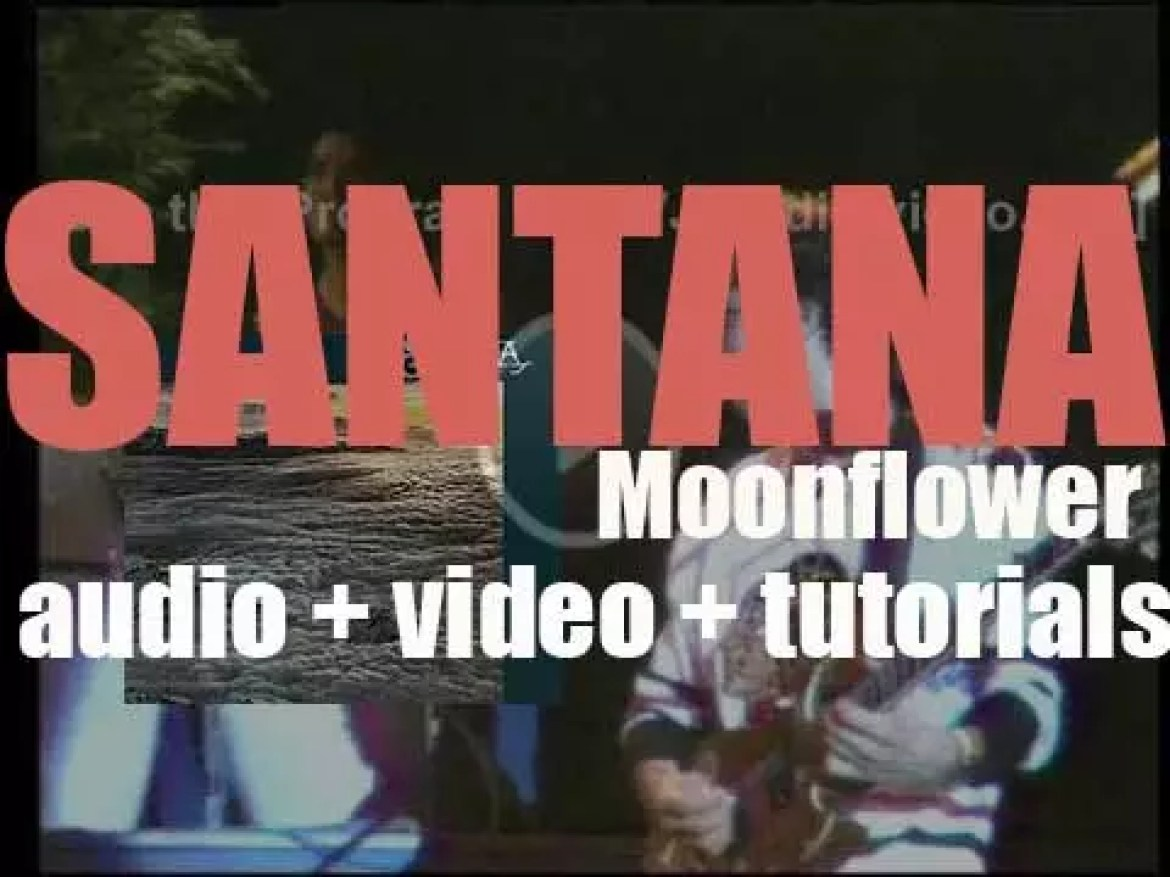 Santana record the live parts of the album 'Moonflower' for Columbia (1976)