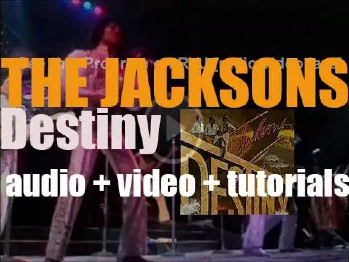 The Jacksons release their twelfth album : 'Destiny' featuring 'Blame It on the Boogie' and 'Shake Your Body (Down to the Ground)' (1978)