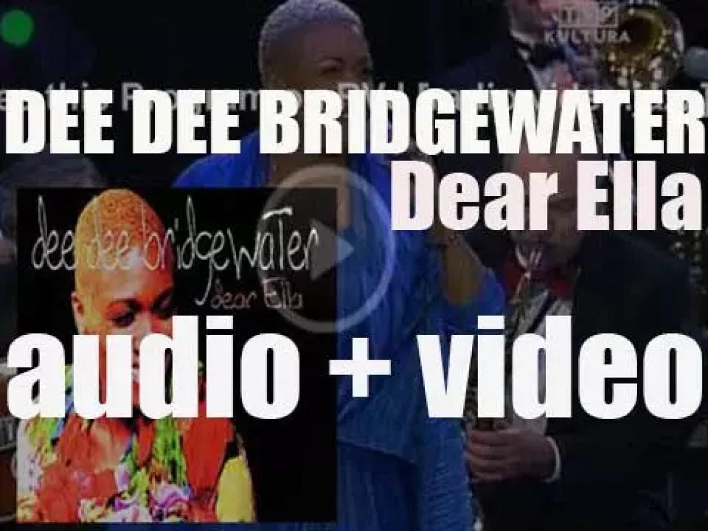 Dee Dee Bridgewater begins the recording of 'Dear Ella,' a tribute album to Ella Fitzgerald for Verve (1997)