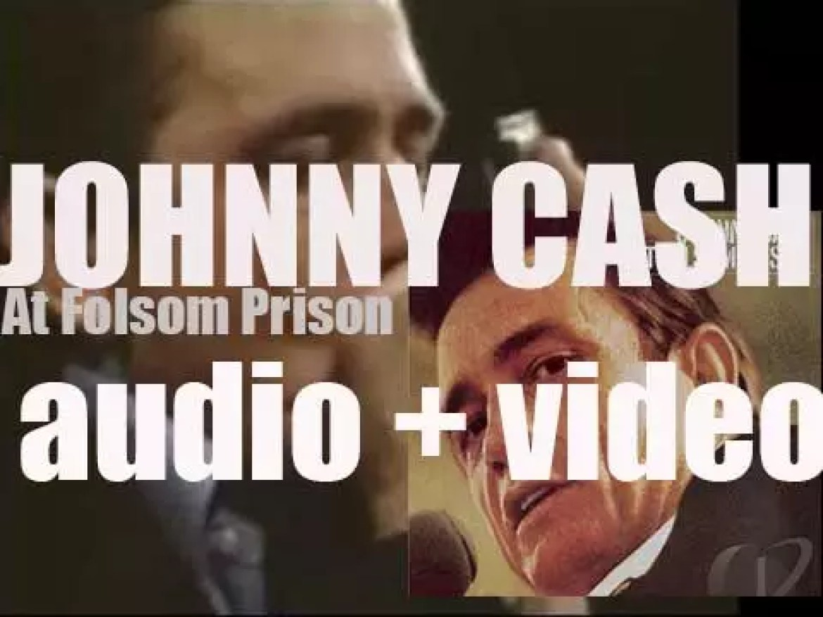 Johnny Cash records 'At Folsom Prison' a live album for Columbia Records (1968)