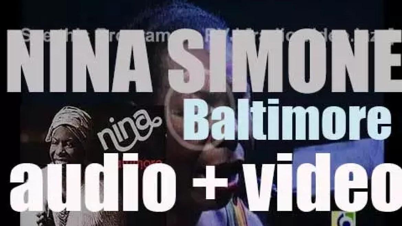 Nina Simone records 'Baltimore,' an album for CTI (1978)