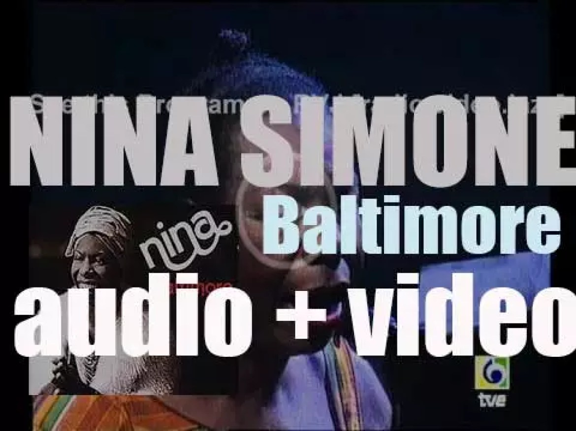Nina Simone records 'Baltimore,' an album for CTI (1978)