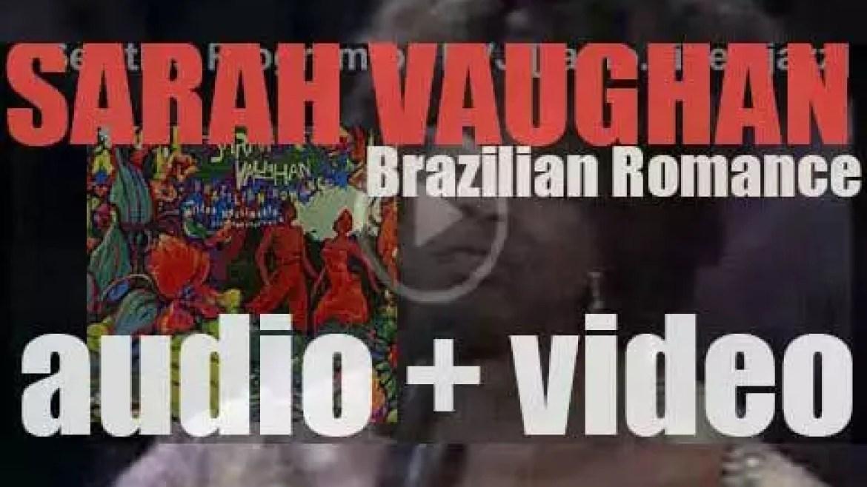 Sarah Vaughan records her last album : 'Brazilian Romance' produced by Sérgio Mendes (1987)