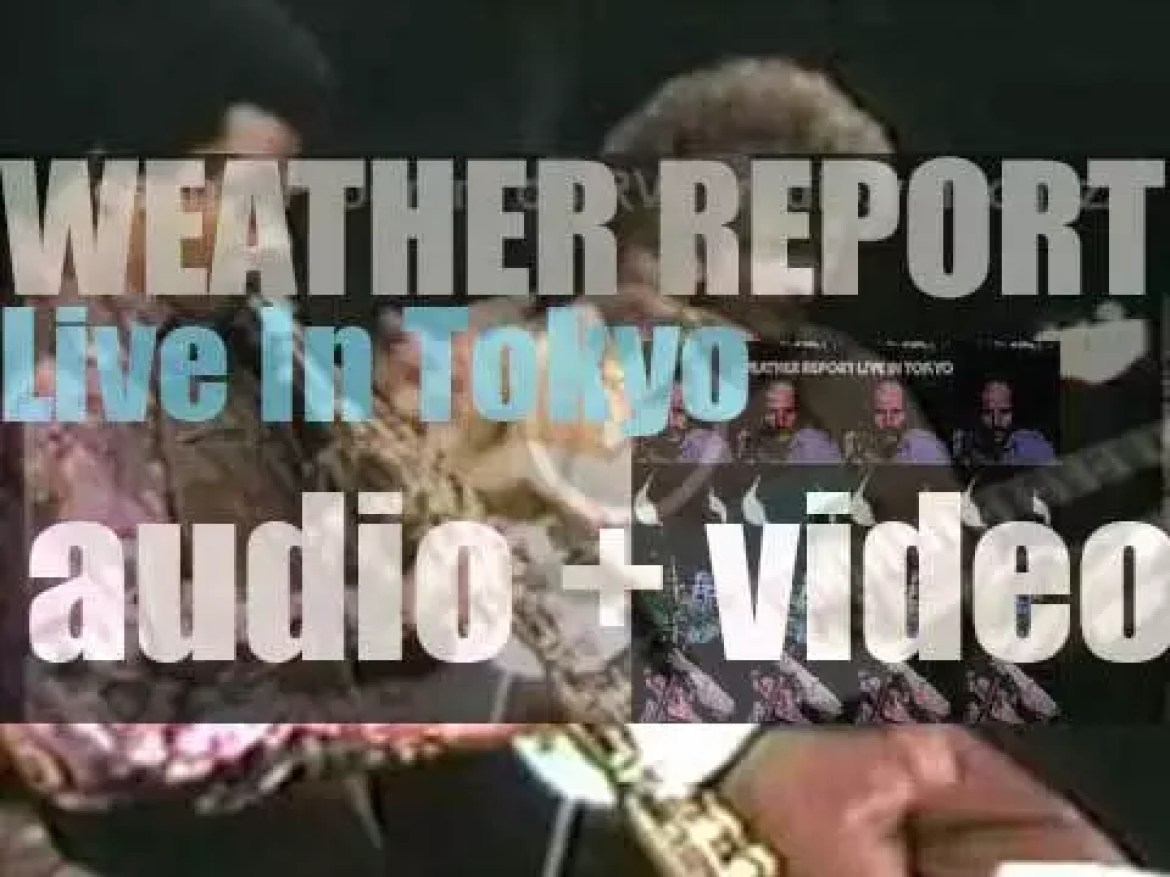 Weather Report record their first live album : 'Live in Tokyo' at Shibuya Kokaido Hall in Tokyo (1972)