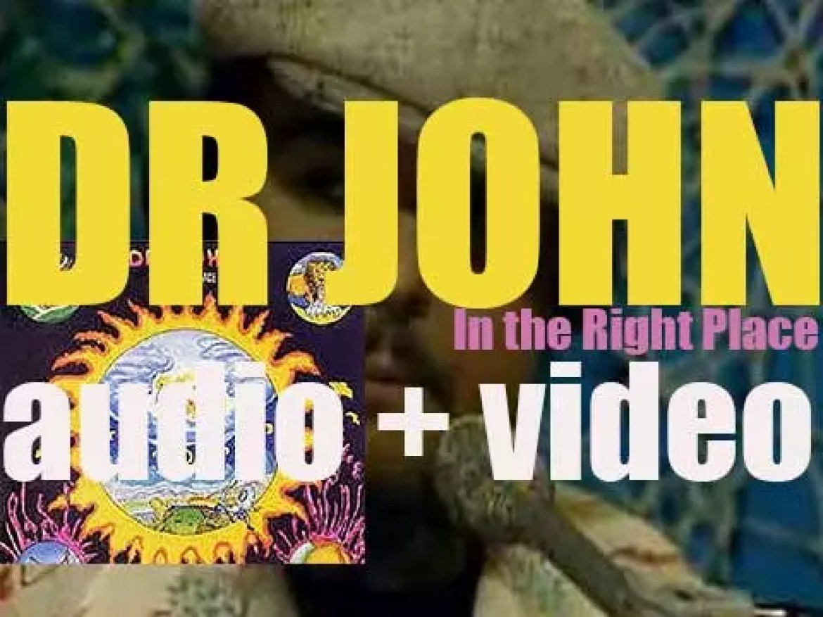 Dr. John releases 'In the Right Place' co-produced by Allen Toussaint (1973)