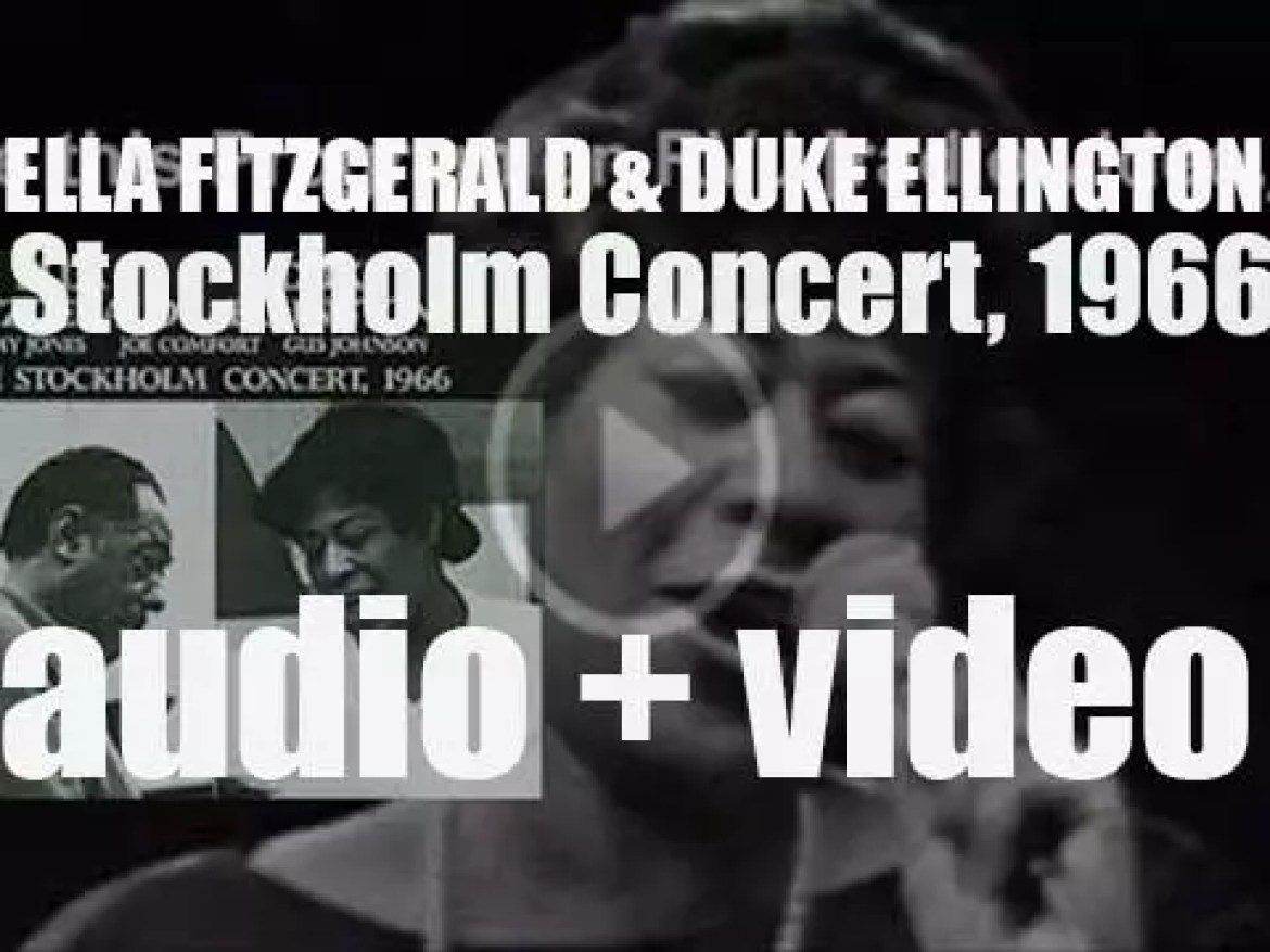 Ella Fitzgerald records with the Duke Ellington Orchestra : 'The Stockholm Concert, 1966'