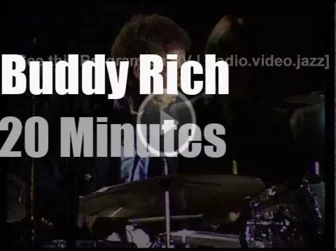 The Buddy Rich Orchestra plays in Cologne, Germany (1980)