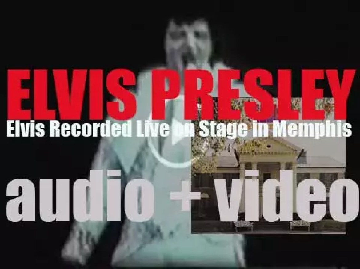 Elvis Presley records 'Elvis Recorded Live on Stage in Memphis' at the at Mid-South Coliseum in … Memphis (1974)