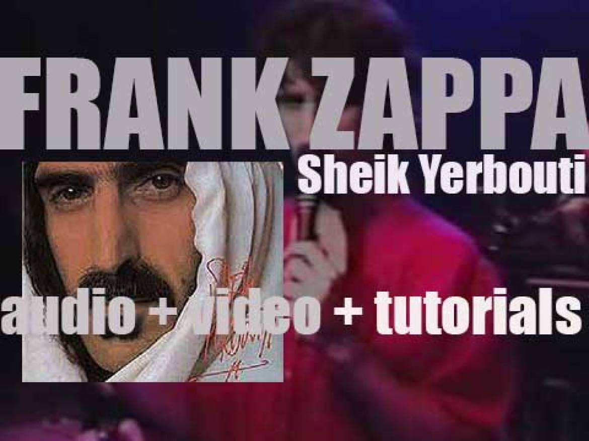 Frank Zappa releases 'Sheik Yerbouti,' a live album featuring Adrian Belew and Terry Bozzio (1979)