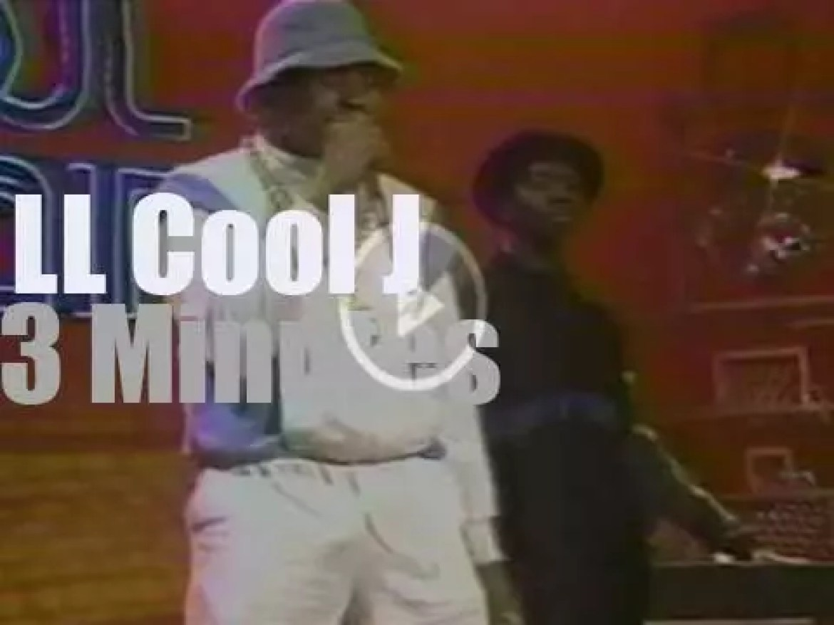 """On TV today, LL Cool J at """"Soul Train"""" (1986)"""