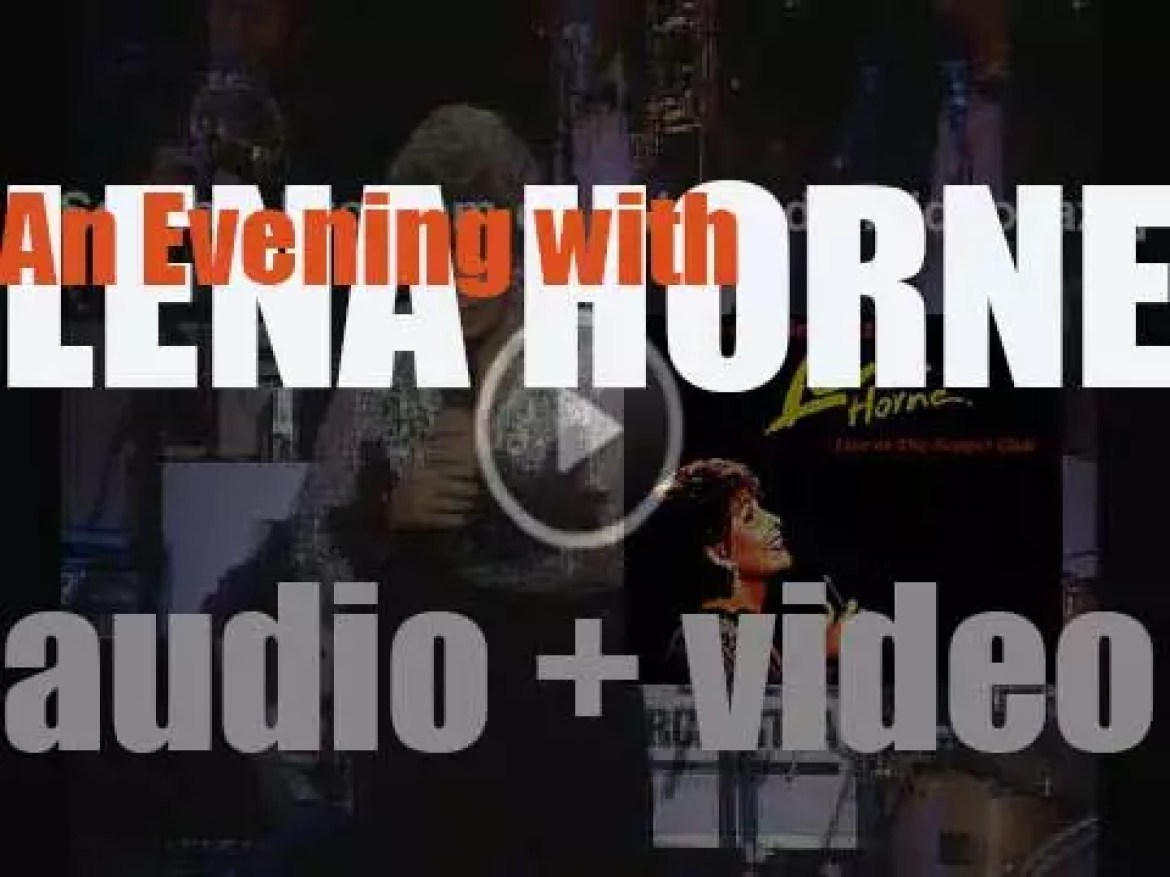 Blue Note release 'An Evening with Lena Horne' recorded with the Count Basie Orchestra (1995)