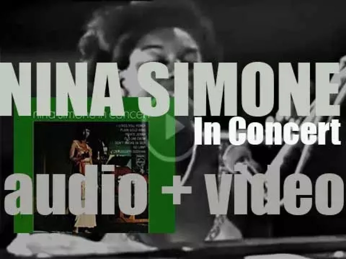 Nina Simone records  'In Concert' at Carnegie Hall in New York City (1964)