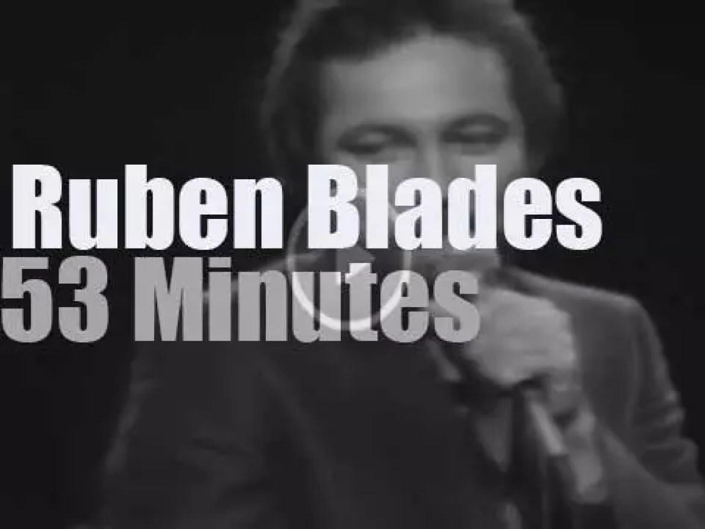 Ruben Blades sings in New-Jersey (1980)