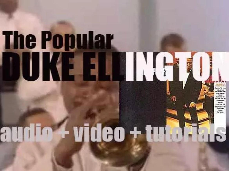 Duke Ellington starts the recording of the album 'The Popular Duke Ellington' (1966)