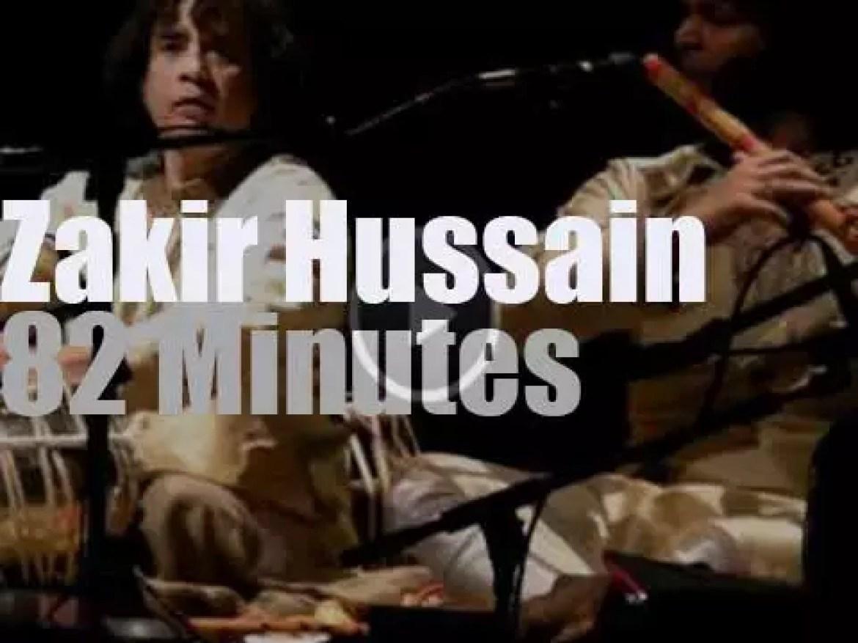 Zakir Hussain & Masters Of Percussion play in Berkeley CA (2012)