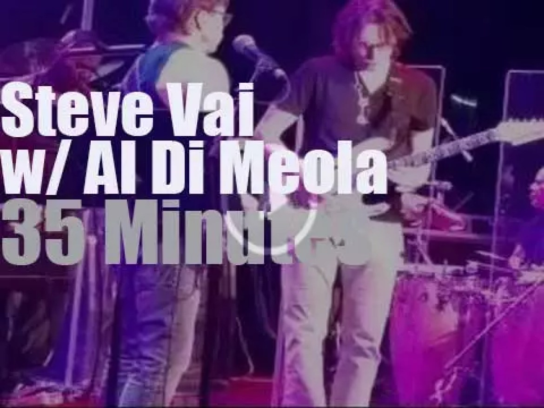 Steve Vai joins Al Di Meola in California (2015)