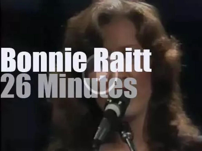 """On TV today, Bonnie Raitt on """"Late Night""""  (1982)"""