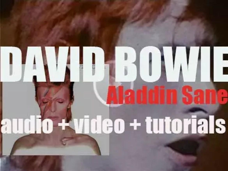 RCA release David Bowie's sixth album  : 'Aladdin Sane' featuring 'The Jean Genie' (1973)