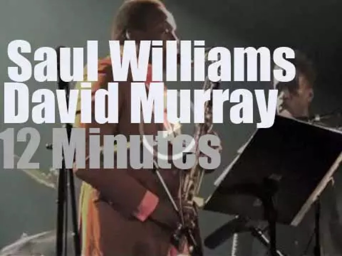 Poet Saul Williams sits in with David Murray (2014)