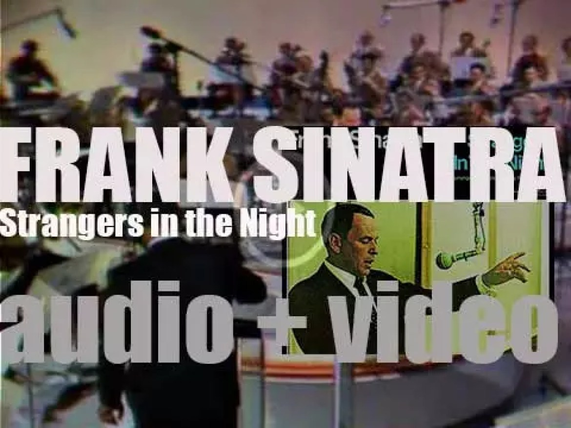 Frank Sinatra records the 'Strangers in the Night' album with Conductor/Arranger Nelson Riddle (1966)