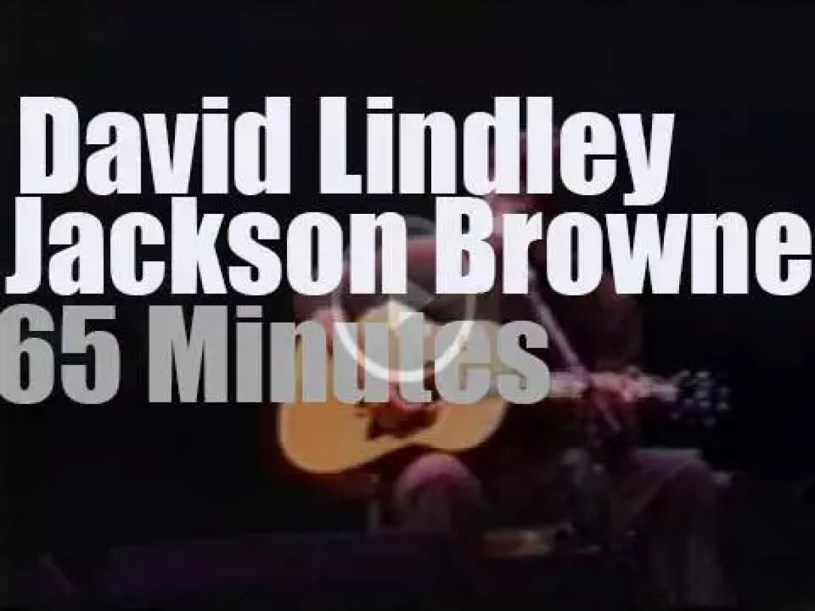 Jackson Browne & David Lindley together in Italy (1997)