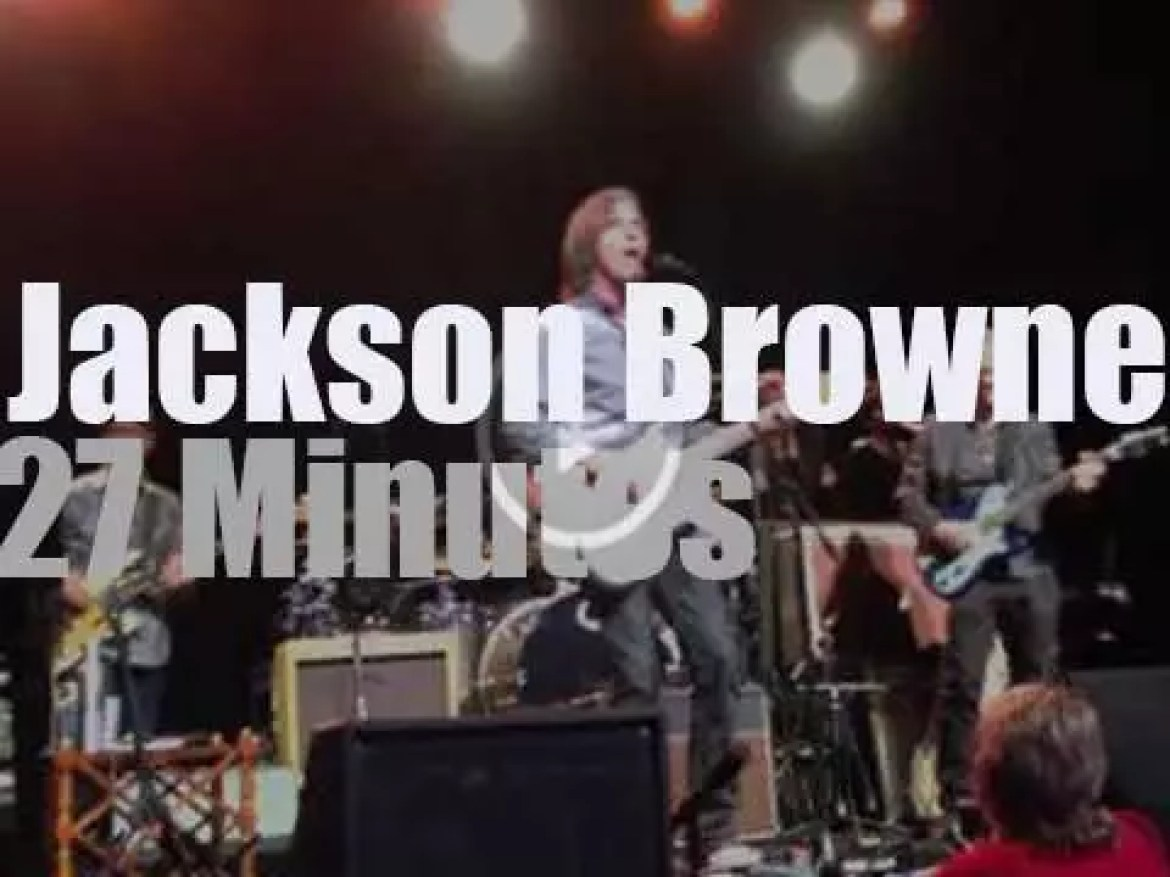 Jackson Browne plays for a social cause in Hollywood (2015)