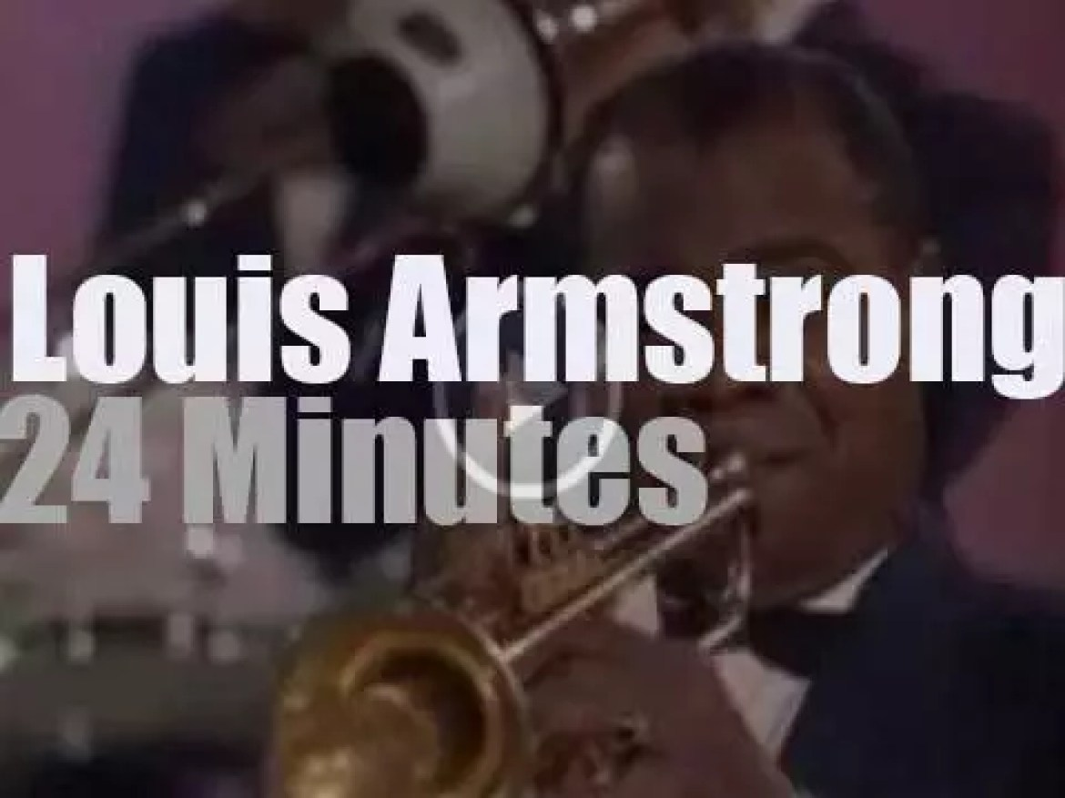 On Tv today, Louis Armstrong is sponsored by Goodyear [1962]