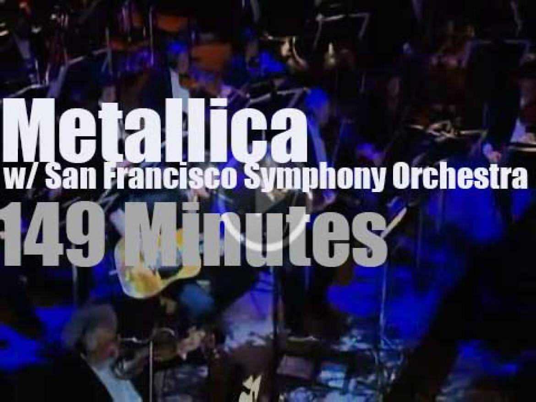 Metallica go symphonic in San Francisco (1999)